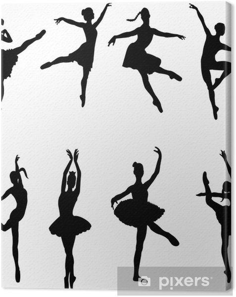 Leinwandbild Ballett-Tänzer - vector - Entertainment
