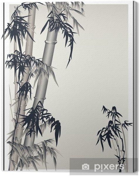 Leinwandbild Bambus-Vektor in der traditionellen asiatischen Stil. - Hintergründe