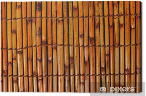 Leinwandbild Bambusmatte - Asien