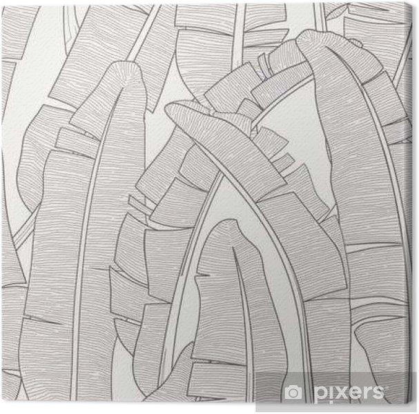 Leinwandbild Banana Leafs Muster - Grafische Elemente