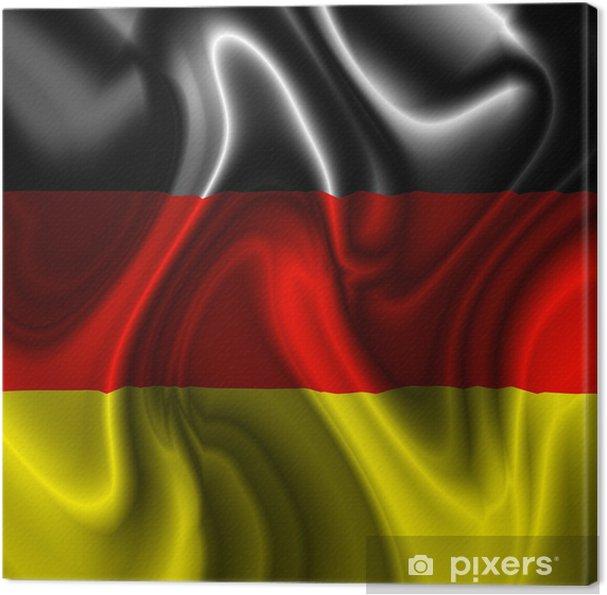 Leinwandbild Bandiera Germania Deutschland Flagge Drapeau Allemagne