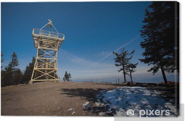 Leinwandbild Barania Gora Tower - wunderschönen Beskiden Foto - Jahreszeiten