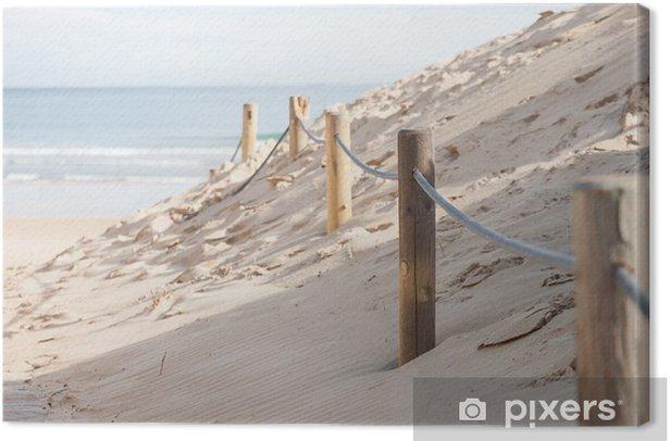 Leinwandbild Barriere Dünen - Leben