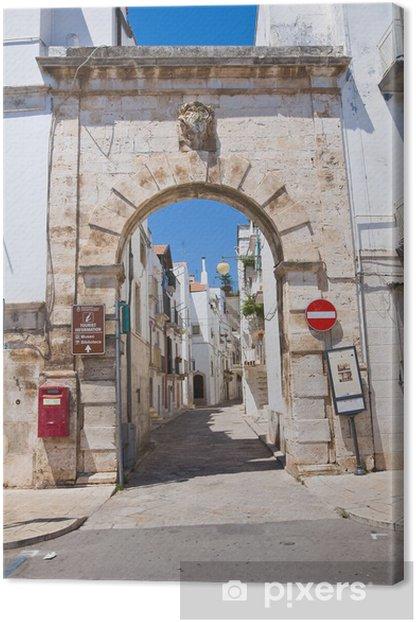Leinwandbild Barsento Tür. Putignano. Apulien. Italien. - Urlaub