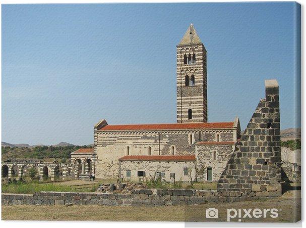 Leinwandbild Basilika der Heiligen Dreifaltigkeit von Saccargia (Sassai) - Europa