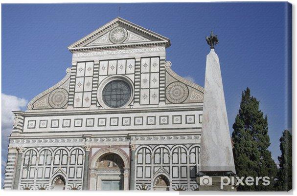 Leinwandbild Basilika von Santa Maria Novella in Florenz - Europa