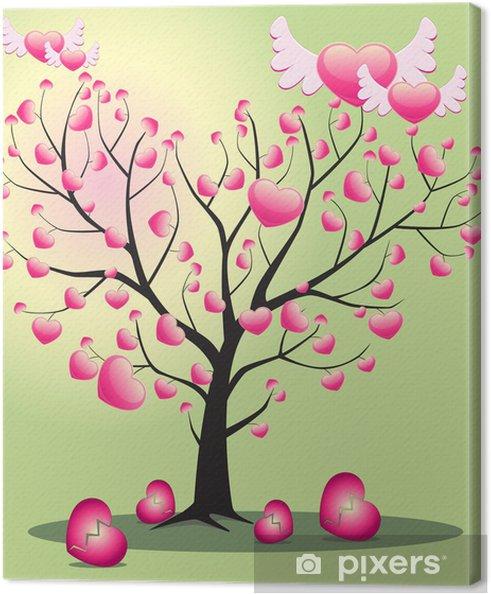 Leinwandbild Baum der Liebe aus dem Herzen - Bäume