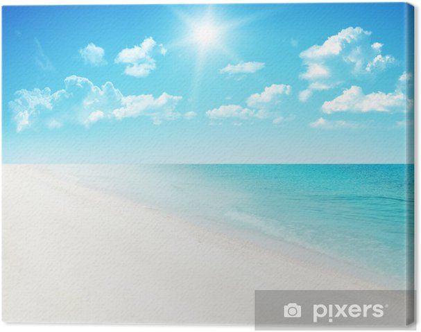 Leinwandbild Beach Background - Himmel