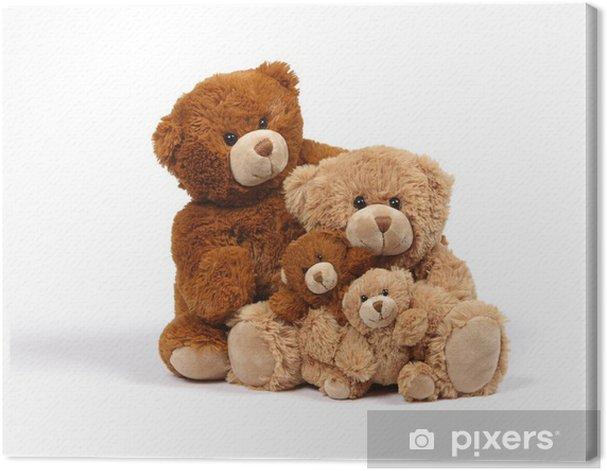 Leinwandbild Bear Family - Spiele