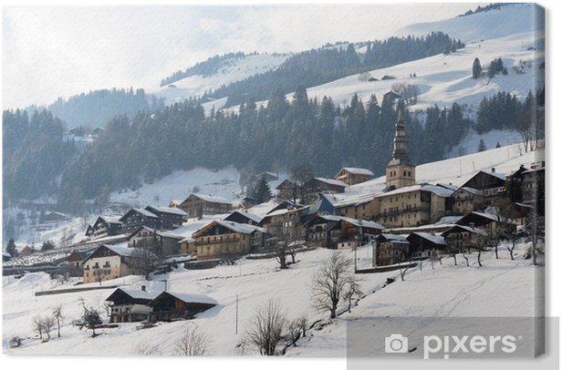 Leinwandbild Bergdorf - Urlaub