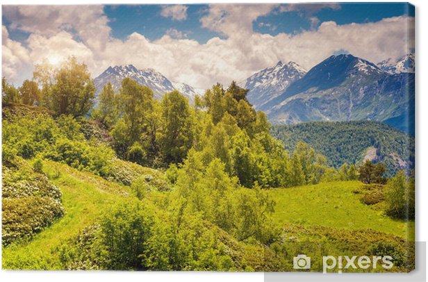 Leinwandbild Berglandschaft von Georgien - Berge