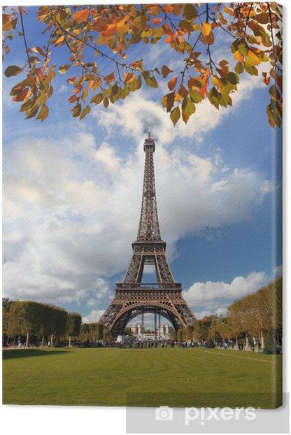 Leinwandbild Berühmte Arc de Triomphe im Herbst, Paris, Frankreich - Europäische Städte