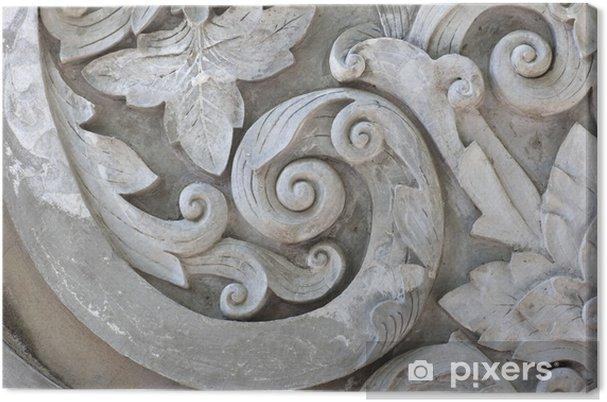 Leinwandbild Beschaffenheit des Arbeits Stuck grau - Texturen