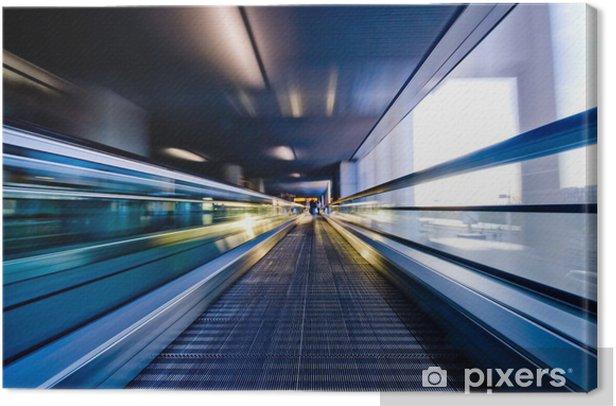 Leinwandbild Bewegenden Rolltreppe - Themen