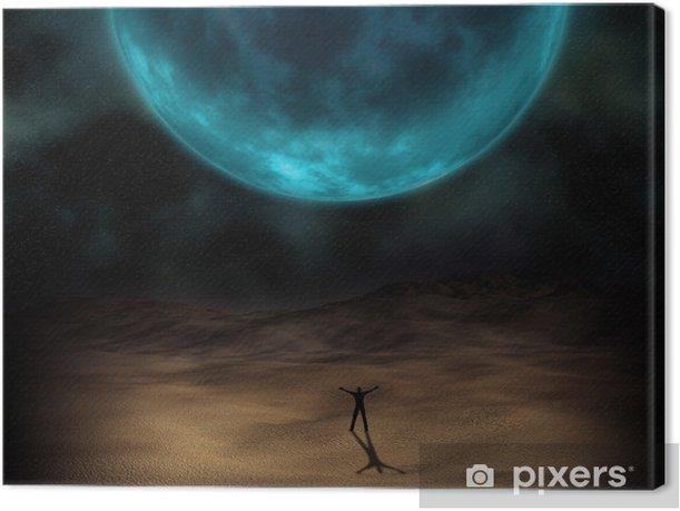 Leinwandbild Bild Surreale Planeten - Weltall