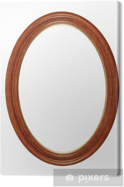 Leinwandbild Bilderrahmen oval - Kunst und Gestaltung