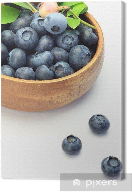 Leinwandbild Blaubeere - Früchte