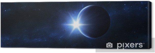 Leinwandbild Blaue Ewigkeit - Weltall