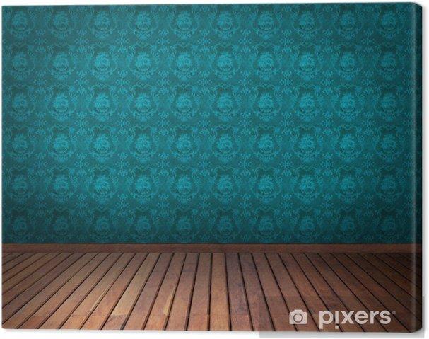 Leinwandbild Blaue Tapete Zimmer Pixers Wir Leben Um Zu Verändern