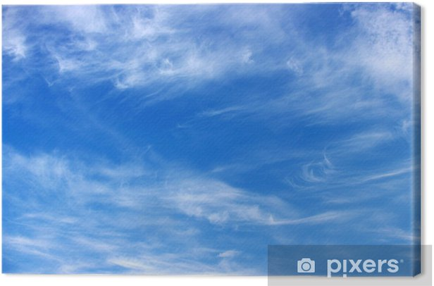 Leinwandbild Blauer Himmel - Himmel