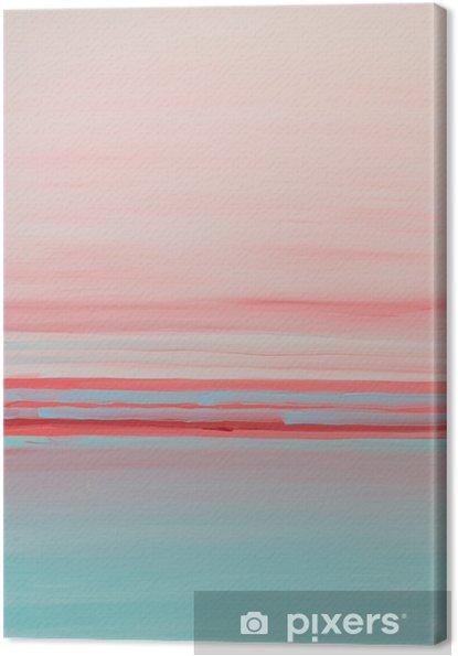 Leinwandbild Blaues Rosa abstact Innenölgemälde - Grafische Elemente