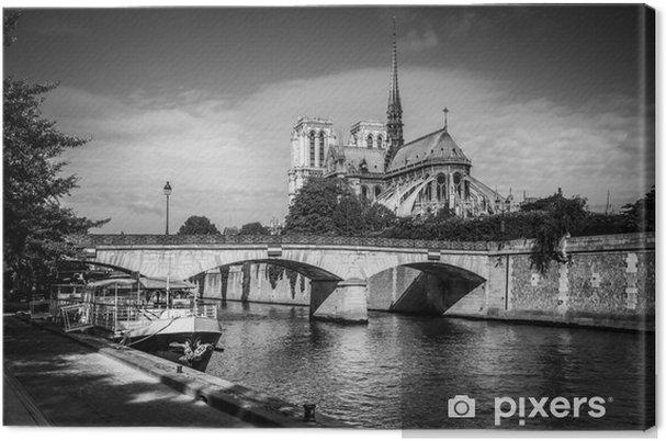 Leinwandbild Blick auf die Seine und Notre-Dame in Paris - Themen