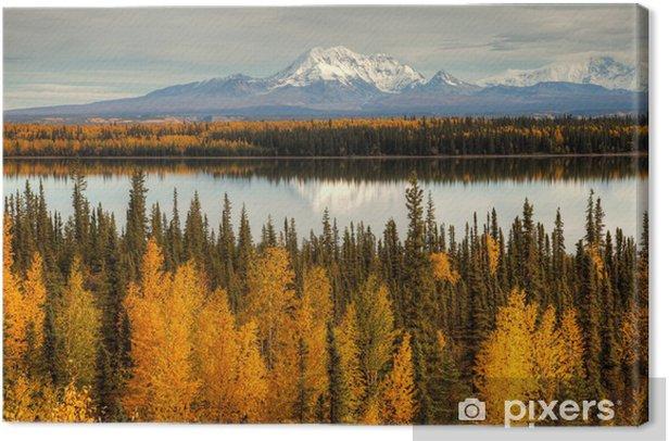 Leinwandbild Blick auf Mount Wrangell und Zanetti - Themen