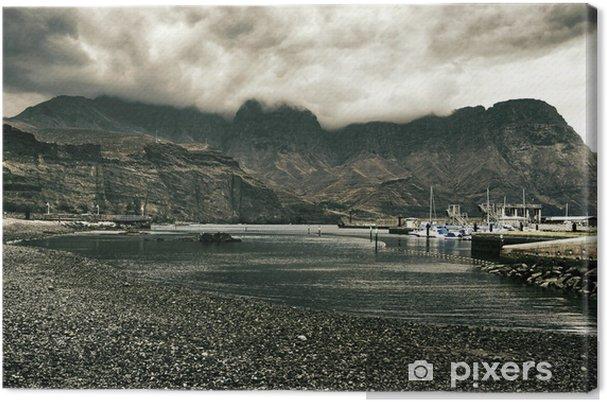 Leinwandbild Blick auf Puerto de las Nieves in Gran Canaria, Spanien - Europa