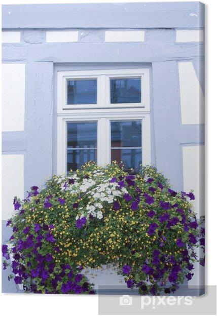 Leinwandbild Blumen Auf Der Fensterbank Pixers Wir Leben Um Zu