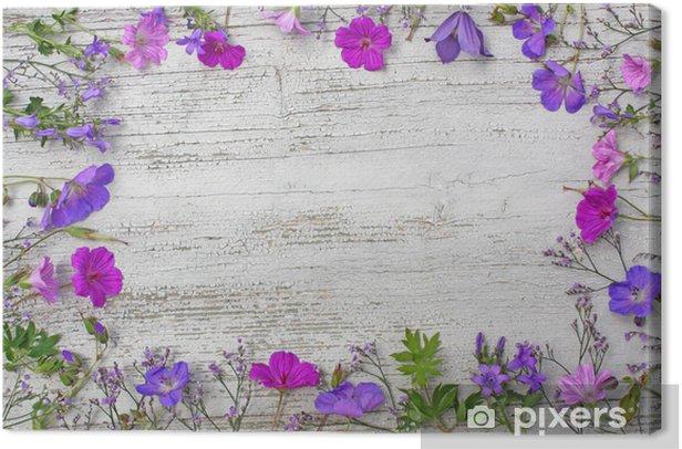 Leinwandbild Blütenrahmen - Jahreszeiten