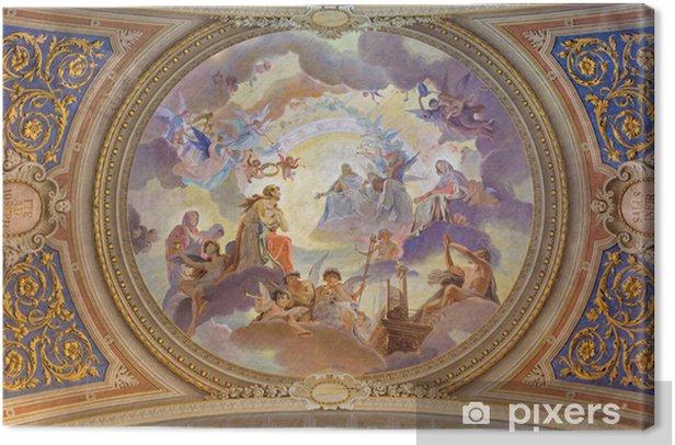 Leinwandbild Bologna - Deckengemälde in der barocken Kirche St. Maria Magdalena - Europa