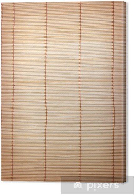 Leinwandbild Braune Bambusmatten Hintergrund Und Textur Pixers