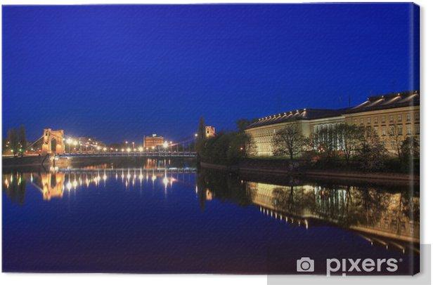 Leinwandbild Kunst-Druck 100x50 Bilder Breslau bei Nacht