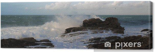 Leinwandbild Bretonischen Küste - Wasser