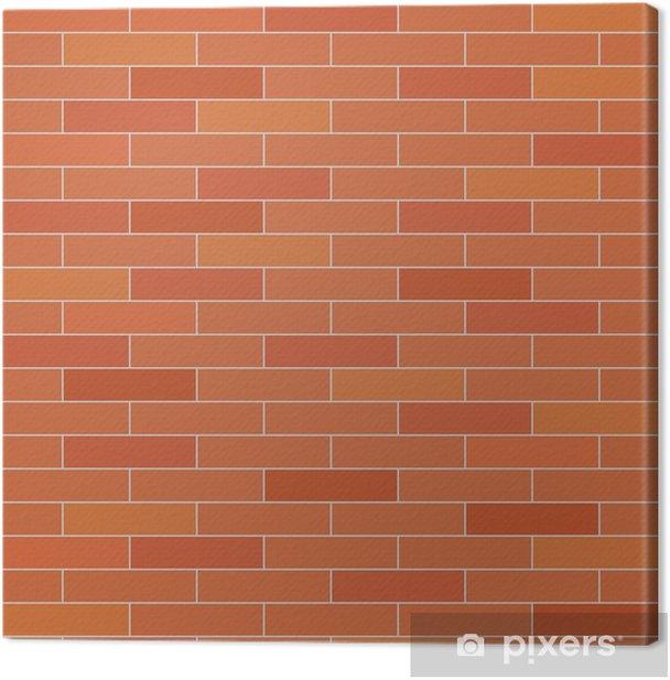 Leinwandbild Brick Wand nahtlose Vektor Textur. - Schwerindustrie
