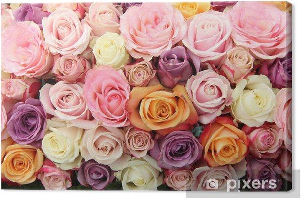 Leinwandbild Bridal Blumen in Pastellfarben - Feste