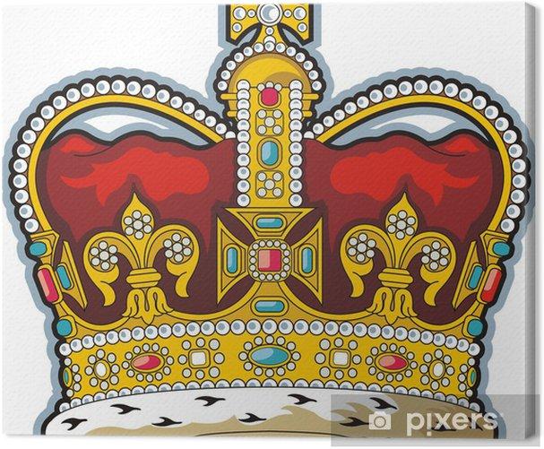 Leinwandbild Britischen Krone - Zeichen und Symbole