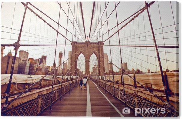 Leinwandbild Brooklyn Bridge in New York. - Themen