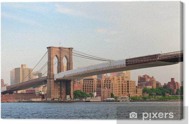 Leinwandbild Brooklyn Bridge Panorama - Themen