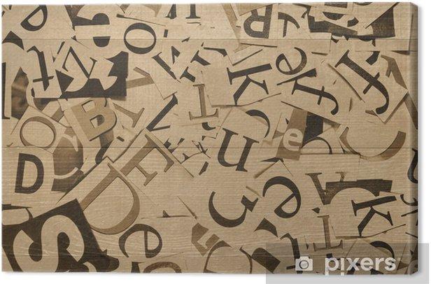 Leinwandbild Buchstaben - Texturen