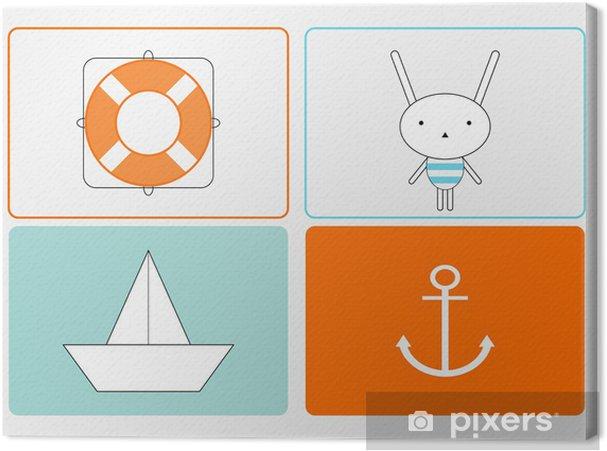Leinwandbild Bunny the Sailor -