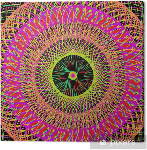 Leinwandbild Bunte abstrakte psychedelische Kunst Hintergrund. Vektormit - Themen