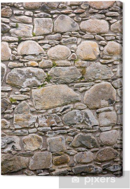 Leinwandbild Burgwand - Denkmäler
