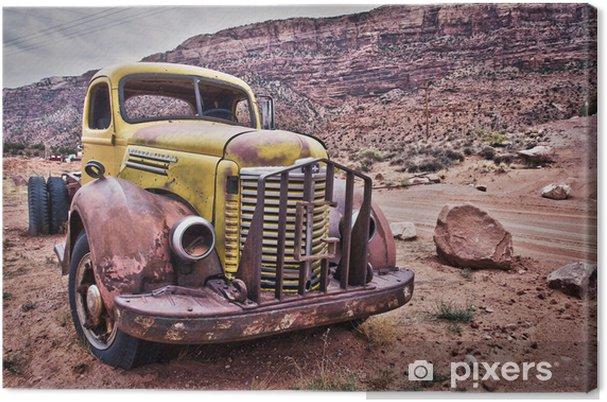Leinwandbild Camion vintage rouillé - Montana, USA - Natur
