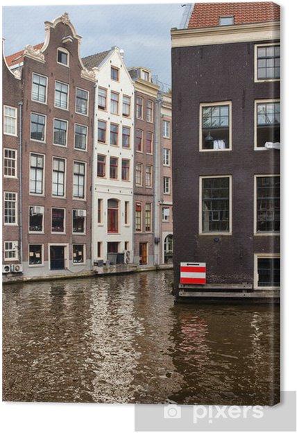 Leinwandbild Canal Gebäude in Amsterdam - Europa