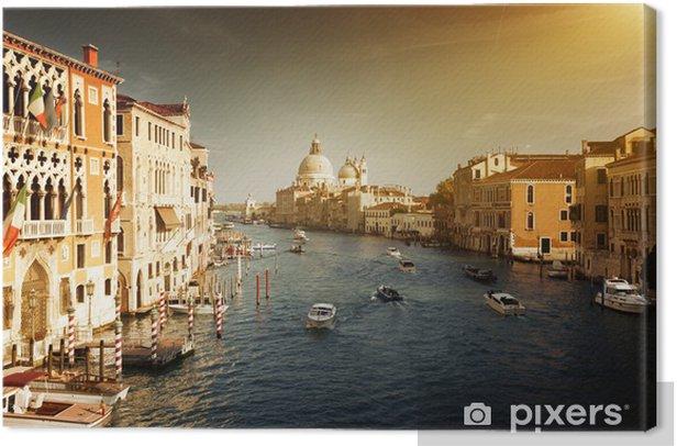 Leinwandbild Canal Grande und Santa Maria della Salute Basilika, Venedig, Italien - Europäische Städte
