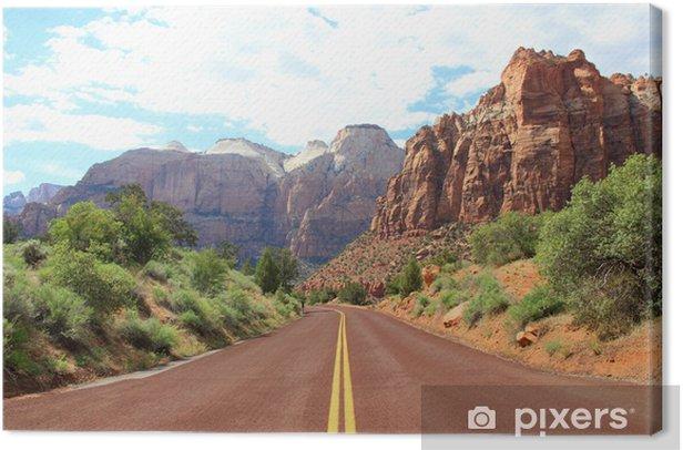 Leinwandbild Canyon Straße Bergen - Amerika