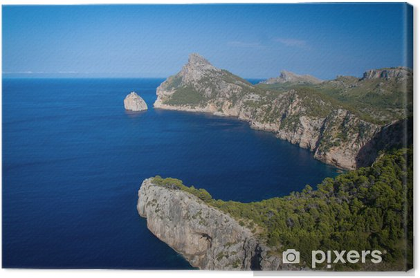 Leinwandbild Cap de Formentor - Treffpunkt der Winde, Mallorca, Spanien - Urlaub