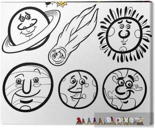 leinwandbild cartoon planeten und orbs malvorlagen