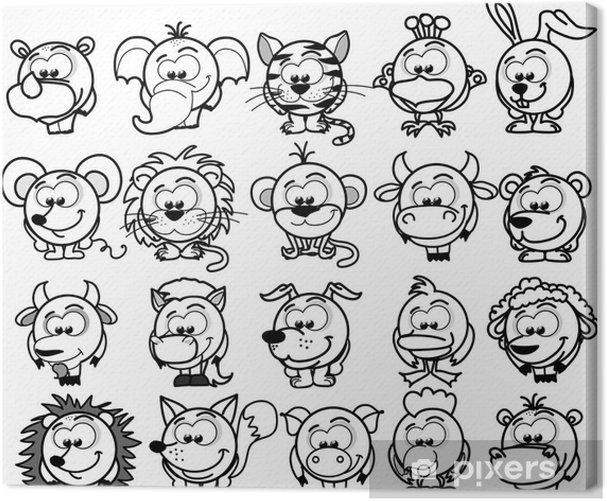 Leinwandbild Cartoon Tiere Vektor - Säugetiere